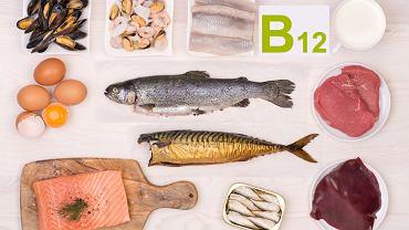 Witamina B12 jest obecna w produktach pochodzenia zwierzęcego