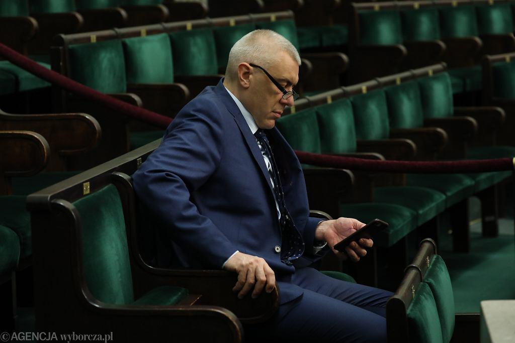 Roman Giertych podczas posiedzenia Sejmu VIII Kadencji, 12.04.2018