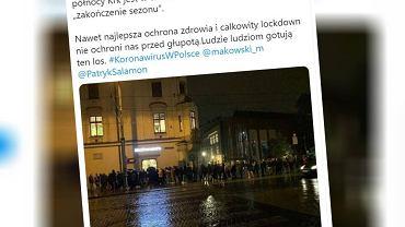 Kolejka przed krakowskim klubem Prozac