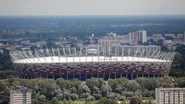 Widok na Stadion Narodowy PGE w Warszawie