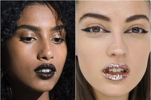 Brokatowe usta z pokazów: DKNY, Fendi