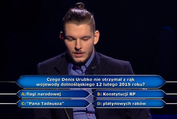 Trudności Pana Bartka zaczęły się przy pytaniu za 125 tysięcy złotych