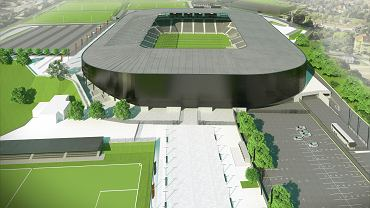 Widok na zmodernizowany stadion Pogoni Szczecin