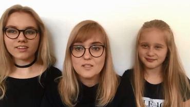 Magdalena Adamowicz z córkami składa gratulacje Aleksandrze Dulkiwicz