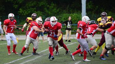 Cougars Szczecin (czerwone koszulki) - Gliwice Lions 20:14