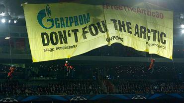Transparent na meczu FC Basel - Schalke