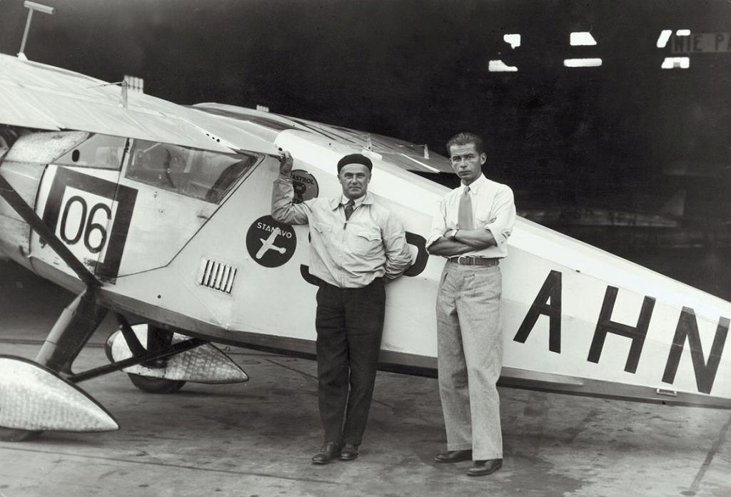 Polscy lotnicy: Franciszek Żwirko i Stanisław Wigura (fot. Narodowe Archiwum Cyfrowe)