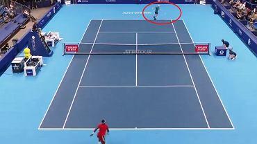 Piękny skrót przy piłce meczowej Murraya z Tiafoe