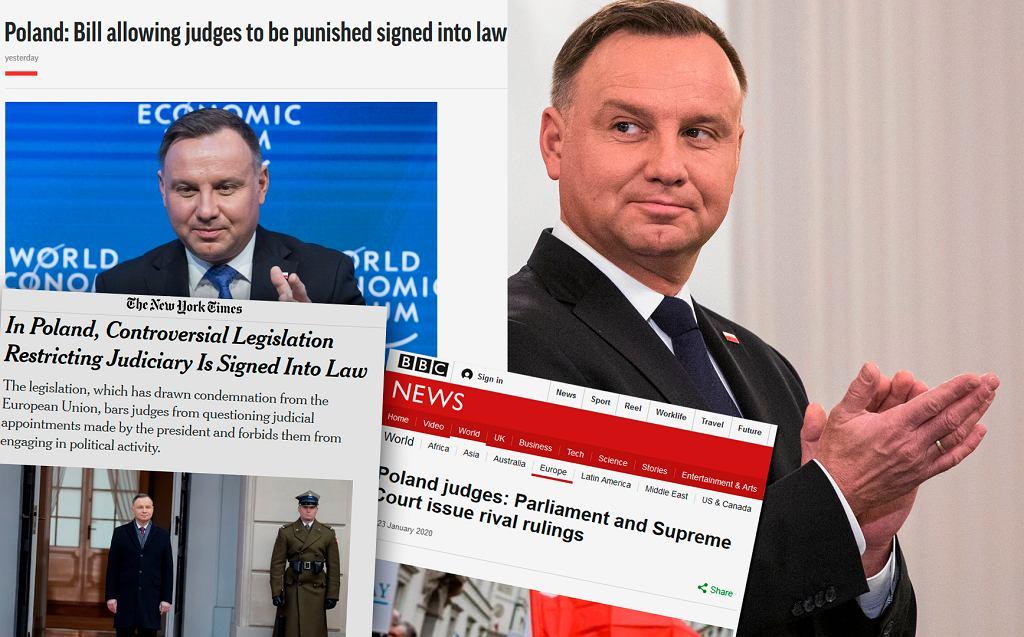 Światowe media o ustawie 'kagańcowej'