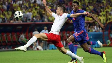 Robert Lewandowski podczas meczu Polska - Senegal. Moskwa, 19 czerwca 2018