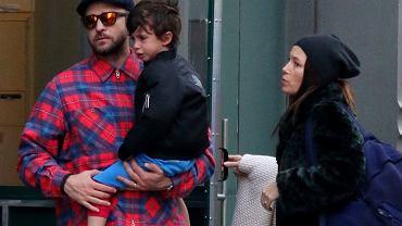 Justin Timberlake i Jessica Biel z synem