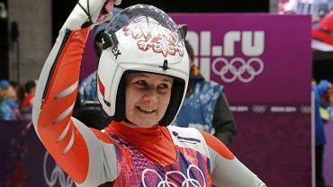 Radość Natalii Wojtuściszyn na mecie finałowego ślizgu w Soczi