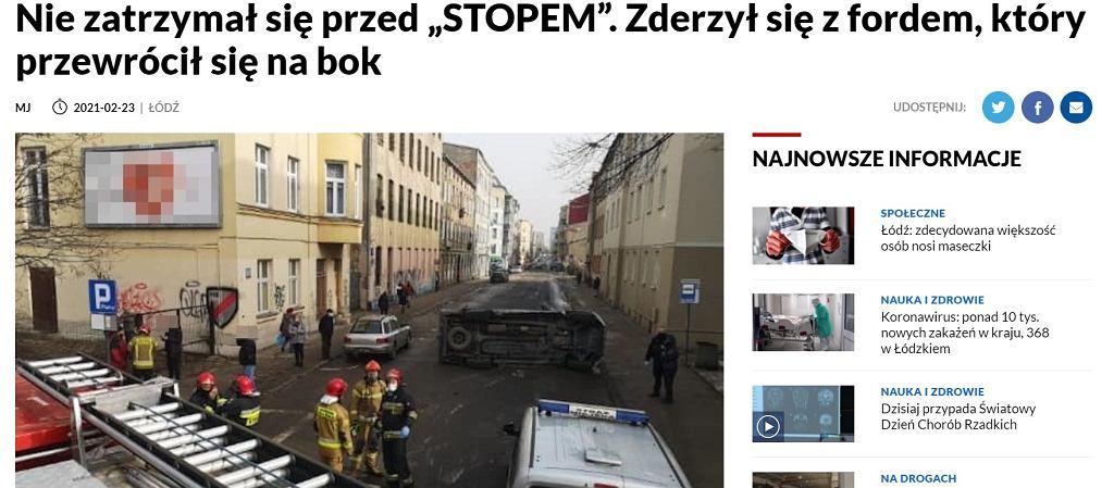 Zrzut ekranu zdjęcia z materiału opublikowanego na stronie TVP3 Łódź.