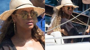 Beyonce zrobiła sobie zasłużoną przerwę od wyczerpującej trasy koncertowej i od kilku dni wypoczywa na włoskiej Sycylii. Gwieździe towarzyszą oczywiście mąż, raper Jay Z, i córka Blue Ivy. Choć na scenie Beyonce jest wulkanem seksu, to na co dzień preferuje zdecydowanie bardziej skromne kreacje. Ale spod jej obszernego płaszcza i tak wystawał bardzo oryginalny kostium kąpielowy. Zobaczcie, jak wypoczywa Beyonce z rodziną!