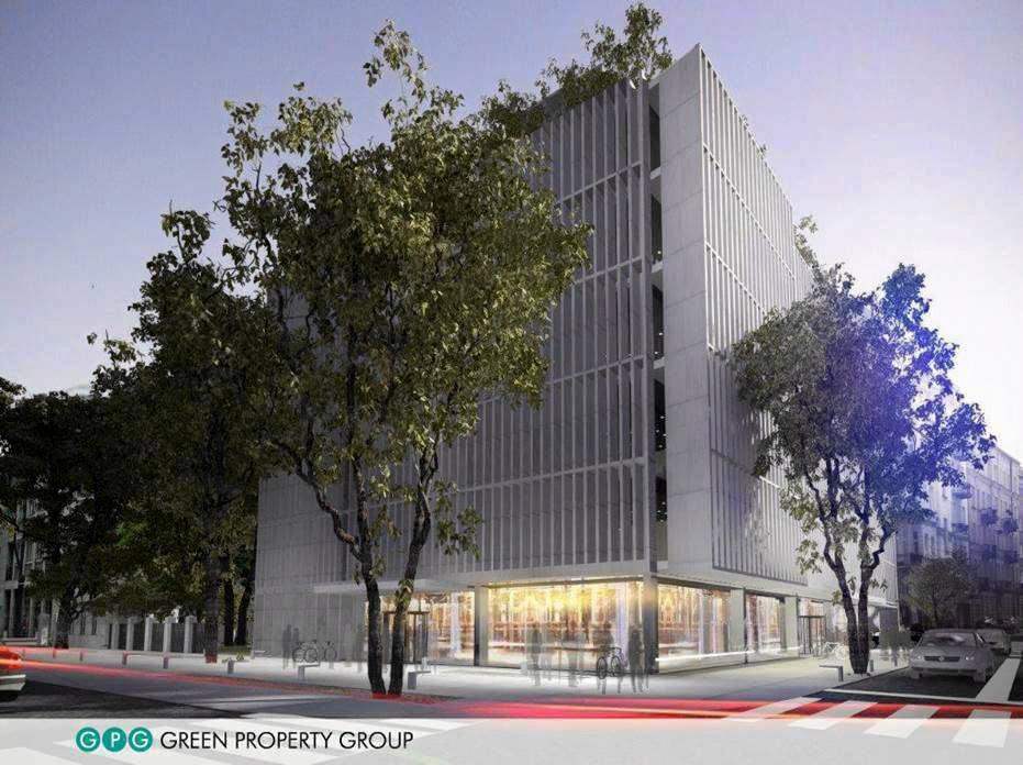 Ogólnodostępny, zielony dziedziniec powstanie między biurowcem a zabytkowym pałacykiem