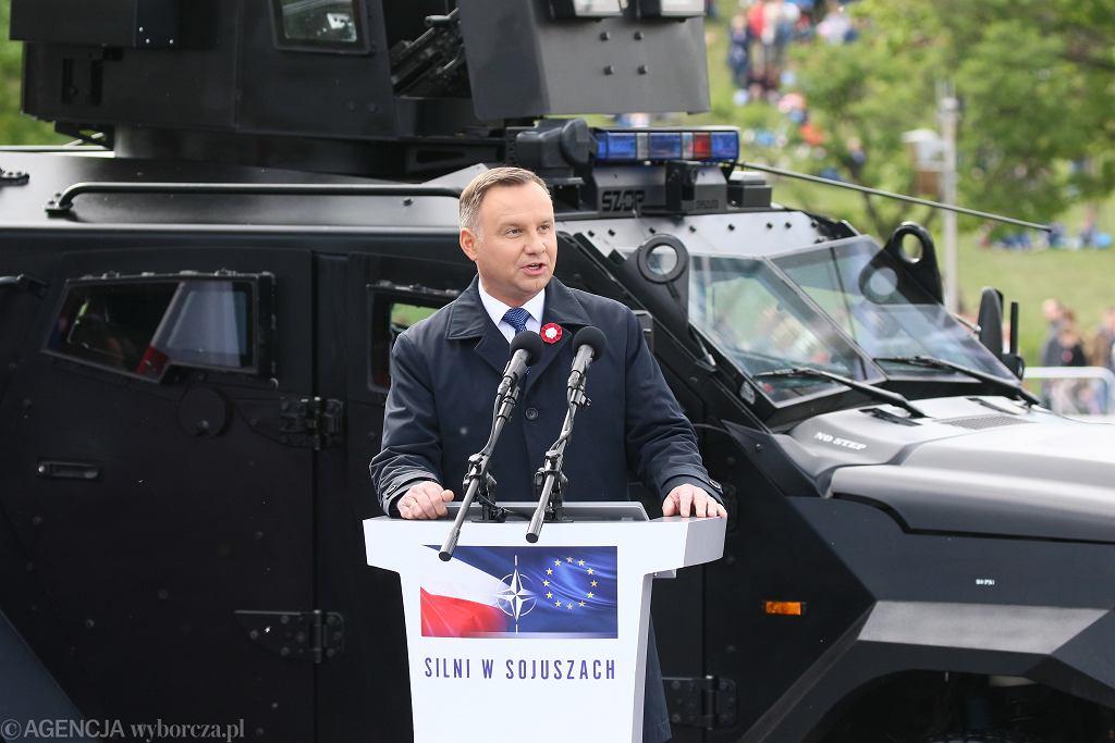 Prezydent Andrzej Duda na defiladzie