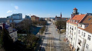 Puste ulice Olsztyna
