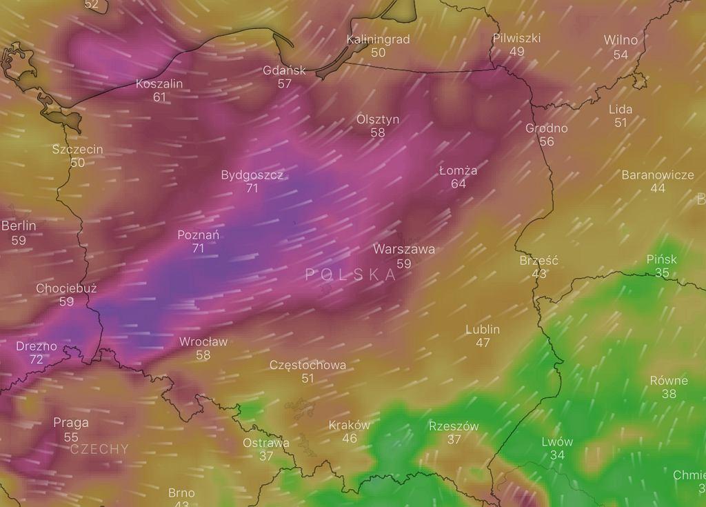 IMGW wydało ostrzeżenia pierwszego stopnia przed silnym wiatrem