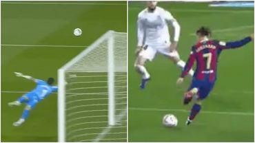 Bramki Leo Messiego (z lewej) i Antoine'a Griezmanna (z prawej) w meczu Barcelony z Huescą