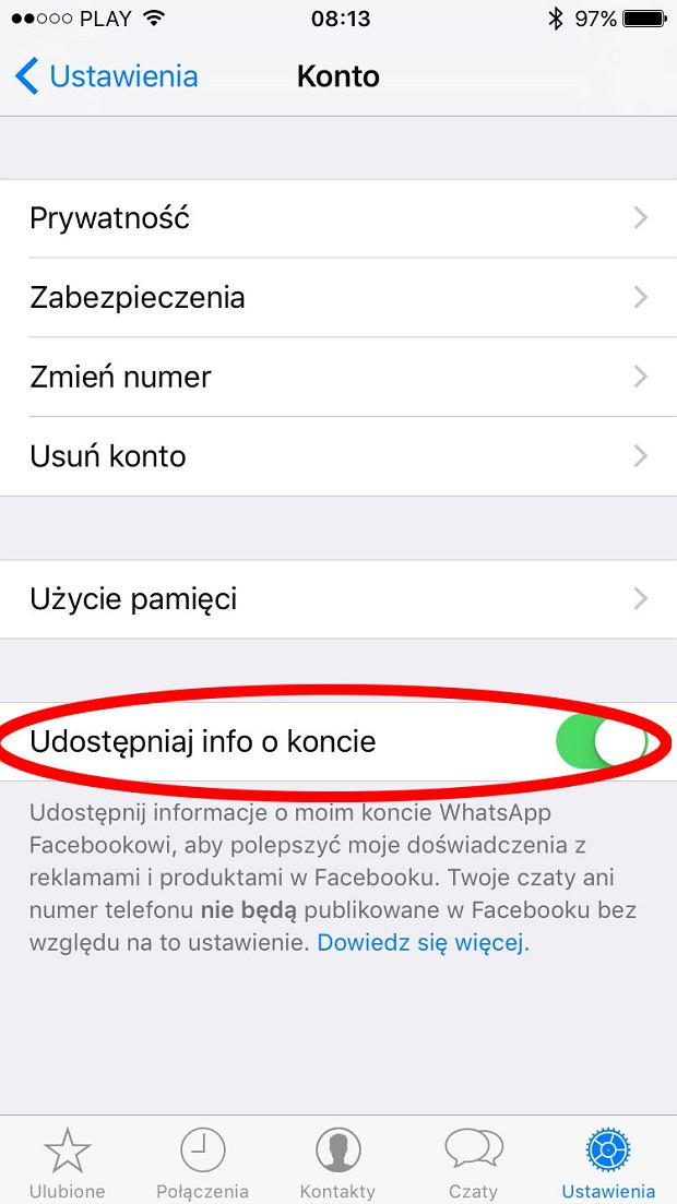 Nowa funkcja WhatsApp