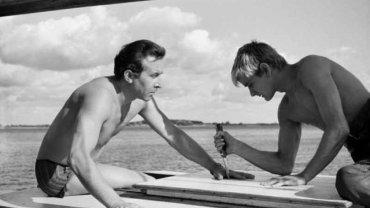 """Kadr z filmu """"Nóż w wodzie"""", który zostanie pokazany na Festiwalu Filmowym w Gdyni"""
