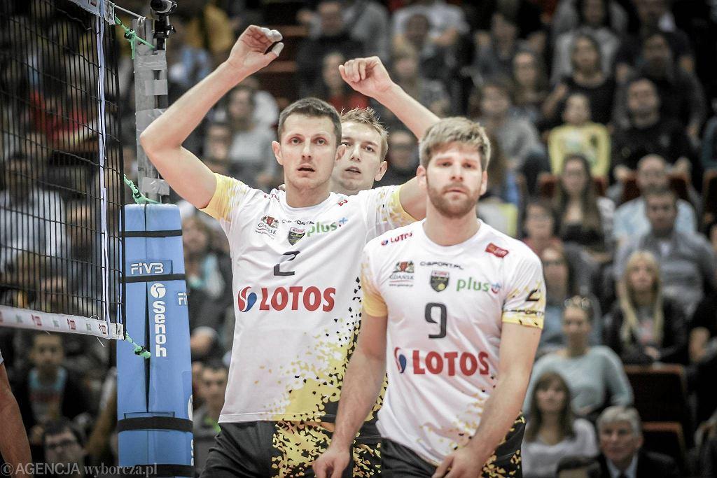 Lotos Trefl Gdańsk - Indykpol AZS Olsztyn 3:1. Sebastian Schwarz, Wojciech Grzyb