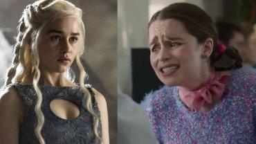 """Emilia Clarke w """"Grze o tron"""" i """"Zanim się pojawiłeś"""""""
