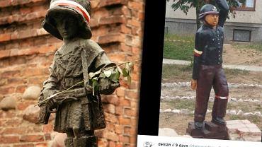 Warszawski i legnicki pomnik Małego Powstańca