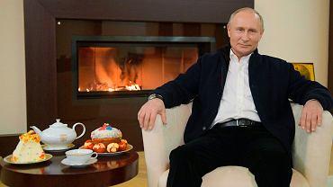 Władimir Putin w swojej rezydencji Nowo-Ogariowo, 19 kwietnia 2020