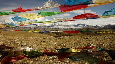 Widok z przełęczy na Mount Everest
