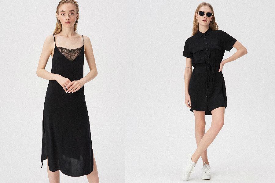 czarne sukienki Sinsay