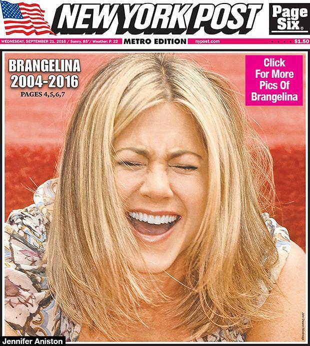 Jennifer Aniston na okładce Washington Post