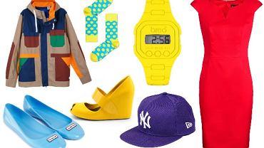 ubrania i dodatki w soczystych kolorach