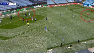 Podanie Edersona i gol Mahreza w meczu City - PSG