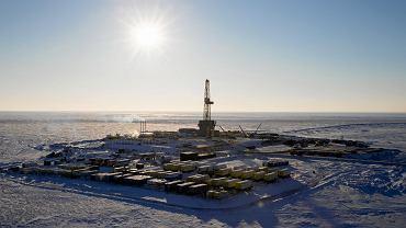 Należący do Rosnieftu szyb naftowy Centralno-Oginskaja-1 w rejonie Chatangskim na północy Rosji.
