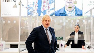 Boris Johnson odwiedza sklep