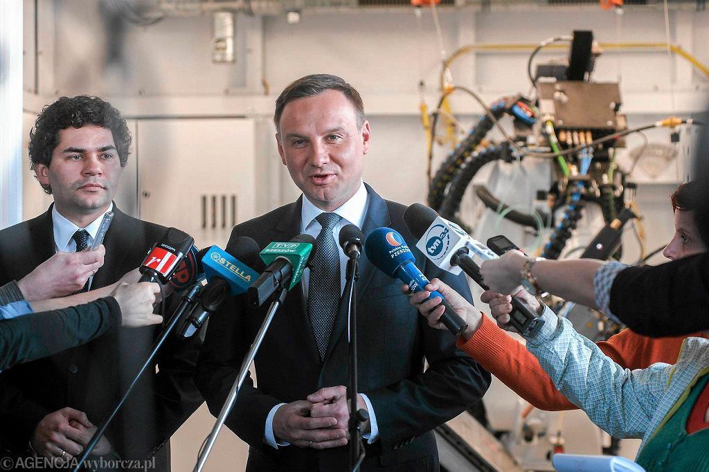 Andrzej Duda, kandydat PiS na prezydenta RP z wizytą w Stalowej Woli. Marzec 2015
