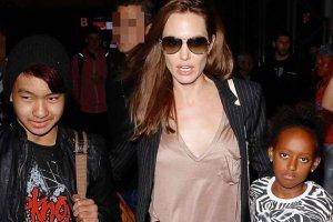 Angelina Jolie, Maddox Jolie-Pitt, Zahara Jolie-Pitt