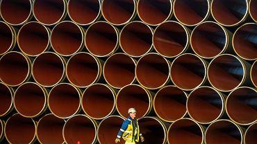Przygotowania do budowy rurociągu Nord Stream 2, północno-wschodnie Niemcy.