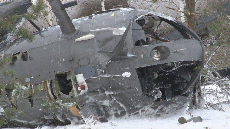 Wypadek śmigłowca przy ul. Diamentowej w Suwałkach