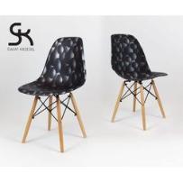 Kr012 krzesło bąbelki eames eiffel dsw buk, marki Świat krzeseł