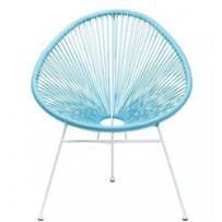 Kare design krzesło spaghetti niebieskie - 80739