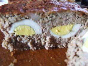 Pasztet z królika z nadzieniem z jajek - ugotuj