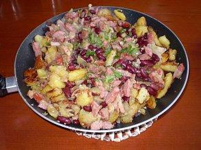 Zapiekanka ziemniaczana z czerwoną fasolą - ugotuj