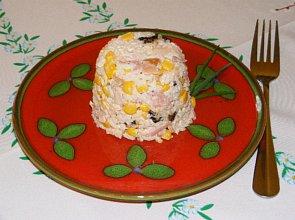 Sałatka z wędzonego kurczaka - ugotuj