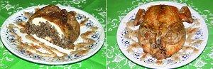 Kurczak faszerowany z sosem ziołowym - ugotuj