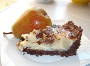 Tarta gruszkowa z migdałami - ugotuj