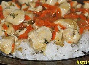 Kurczak z ryżem w sosie - ugotuj