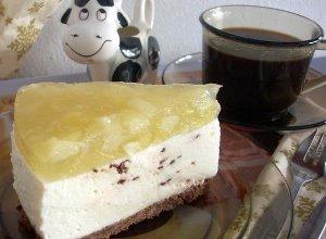 Sernik waniliowo - czekoladowo - gruszkowy - ugotuj