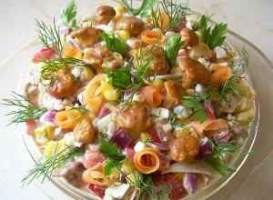 Sałatka z kurkami - ugotuj